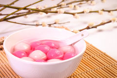 Traditional chinese sweet rice ball. Stock Images