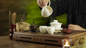Traditional Chinese tea brewing