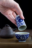Traditional chinese tea ceremony accessories. (tea pair Royalty Free Stock Photography