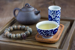 Traditional chinese tea ceremony accessories. (tea pair Royalty Free Stock Images