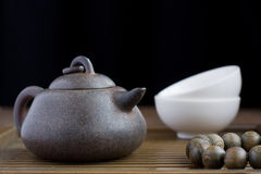 Traditional chinese tea ceremony accessories. (tea pot Stock Images