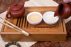 Traditional chinese tea ceremony accessories. (tea pot Royalty Free Stock Photography