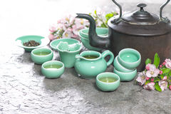 Traditional chinese tea ceremony. Asia style stil life Stock Photo