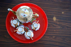 Traditional chinese tea cup set Royalty Free Stock Photo