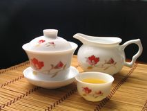 Traditional chinese tea service. Chinese tea service Royalty Free Stock Photo