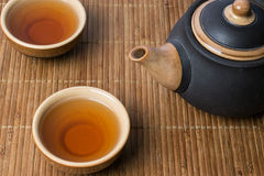 Traditional chinese tea serving set up Royalty Free Stock Photography