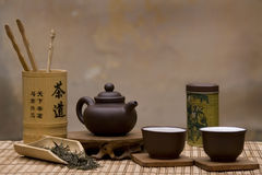 Traditional chinese tea set stock photos