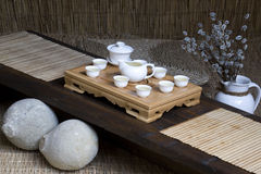 Traditional chinese tea set Royalty Free Stock Image