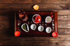 Traditional chinese tea set ceremony Royalty Free Stock Images