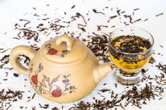 Traditional Chinese tea set Stock Photography
