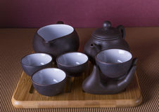 Traditional Chinese tea ware Royalty Free Stock Image