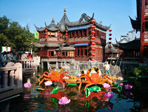 Traditional Chinese Teahouse. A traditional Chinese teahouse in Yuyuan Gardens, Shanghai Stock Images