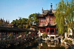 Traditional Chinese Teahouse. A traditional Chinese teahouse in Yuyuan Gardens, Shanghai Royalty Free Stock Photo