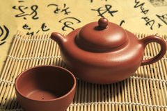 Traditional Chinese teapot close-up pictures Stock Image