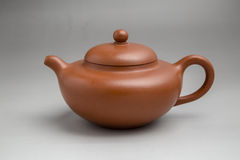 Traditional Chinese teapot close-up pictures. The traditional Chinese Yixing teapots shed close-up pictures Royalty Free Stock Image