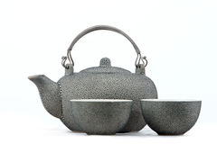 Traditional chinese teapot with tea mug Royalty Free Stock Photos
