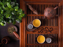 Traditional Chinese teapot used in tea ceremony Stock Photos