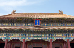 Traditional Chinese temple architecture Stock Photography