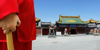 Traditional chinese temple. Entrance of traditional old chinese temple royalty free stock photo