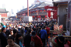 Traditional Chinese  temple fairs Royalty Free Stock Photography