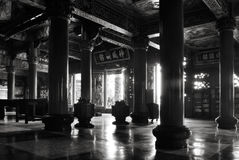Traditional Chinese temple interior Royalty Free Stock Photography