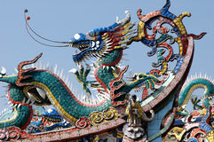 Traditional Chinese temple roof corner Stock Photography