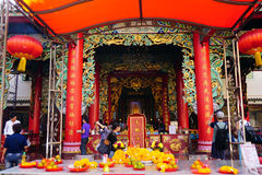 Traditional Chinese temple in Thailand. Kuan yim shrine. Royalty Free Stock Photography