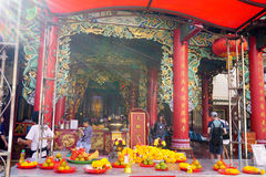 Traditional Chinese temple in Thailand. Kuan yim shrine. Royalty Free Stock Images