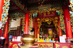 Traditional Chinese temple in Thailand. Kuan yim shrine. Stock Image