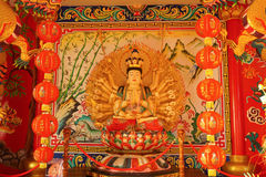 Traditional Chinese temple in Thailand, Name is Khun Samut Trawat temple. Kuan yim shrine. Stock Images
