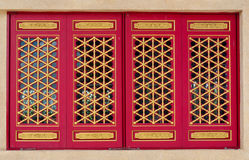 Traditional Chinese temple window Royalty Free Stock Photos