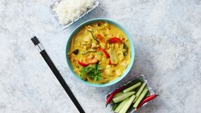Traditional Chinese or Thai chicken yellow curry