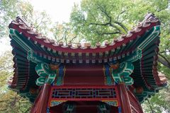Traditional Chinese Tomb in Warsaw Outdoor Park in Warsaw Poland 2014 October. Traditional Chinese Tomb in Warsaw Outdoor Park in Warsaw Poland in 2014 October royalty free stock photo