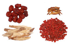 Traditional Chinese Tonic herbs Royalty Free Stock Images