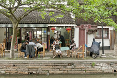 A traditional chinese town. The leisure in a traditional chinese town Royalty Free Stock Image