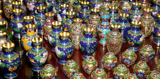 Traditional Chinese vases Stock Photo