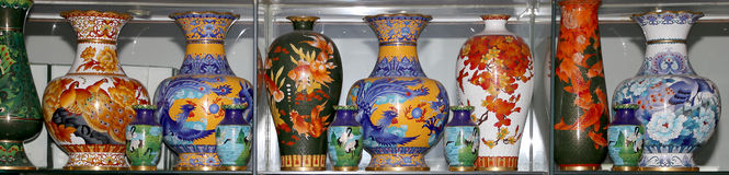 Traditional Chinese vases Stock Photos