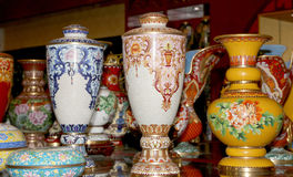 Traditional Chinese vases Royalty Free Stock Photos