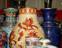 Traditional Chinese vases Royalty Free Stock Photography