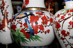 Traditional Chinese vases Stock Photography