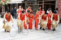 Traditional Chinese wedding celebration Royalty Free Stock Photos