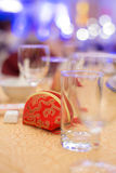 Traditional Chinese wedding - red bag Royalty Free Stock Photos
