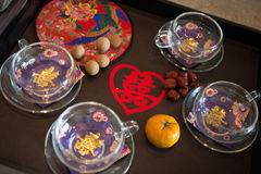 Traditional chinese wedding tea Stock Images