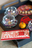 Traditional chinese wedding tea Stock Photos