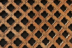 Traditional Chinese Window Grate. Traditional Chinese carved window grate at a historical pavillion. Can be used as background royalty free stock photos