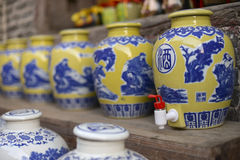 Traditional Chinese wine jar Royalty Free Stock Image