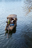 Traditional Chinese wooden boat on West Lake, Hangzhou Royalty Free Stock Photo