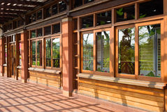 Traditional Chinese wooden building Stock Photography