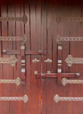 Traditional Chinese wooden door bolt Stock Image