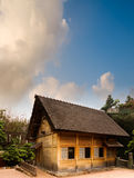 Traditional Chinese wooden house under blue sky Stock Photography